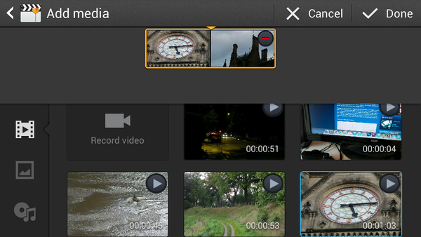 Galaxy Z4 Zoom Video Editor