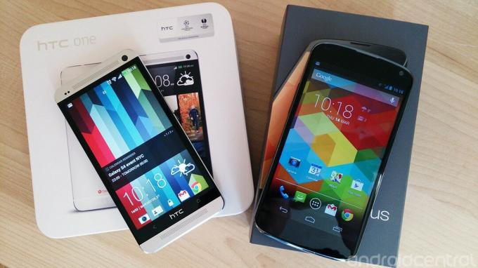 LG Nexus 4 frente a HTC One
