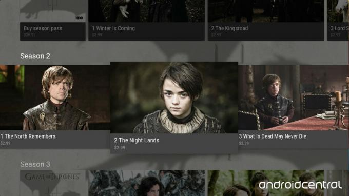Android TV Game of Thrones