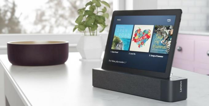 Lenovo Tablet Smart Tab M10 Docked Lifestyle